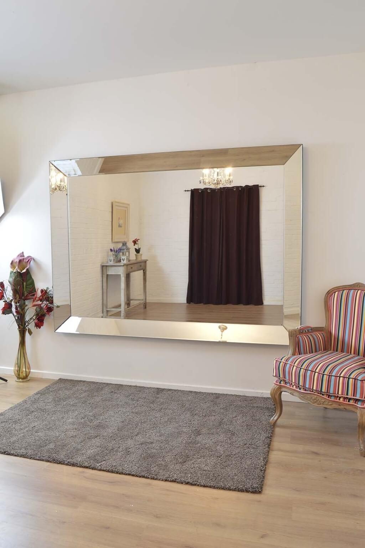 Living Full Length Frameless Wall Mirror