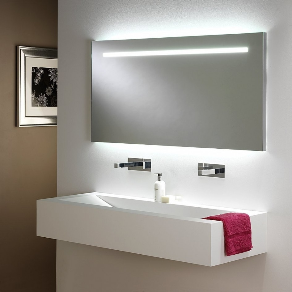 Long Bathroom Mirror With Lights