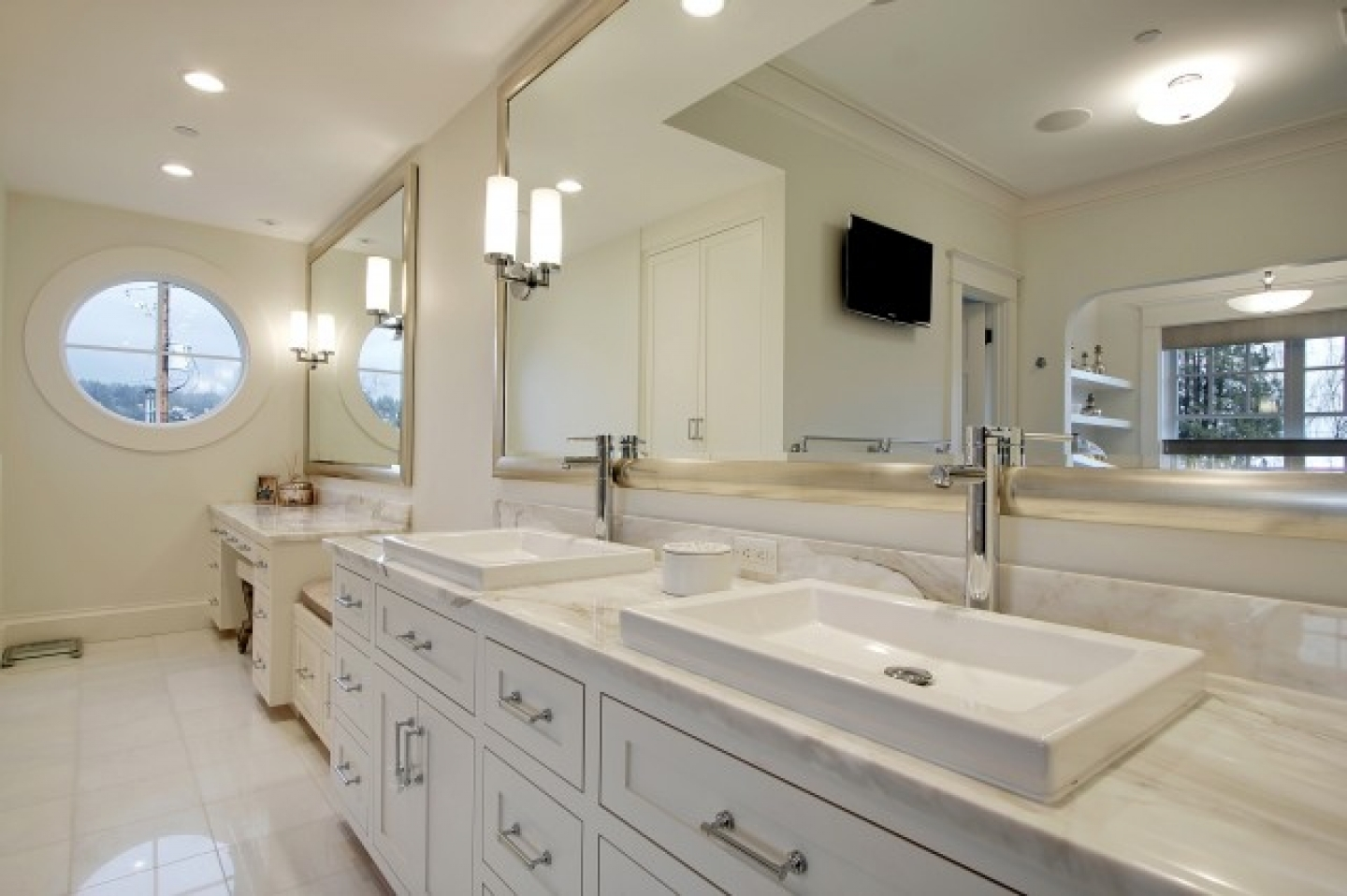 Long Bathroom Vanity Mirrors