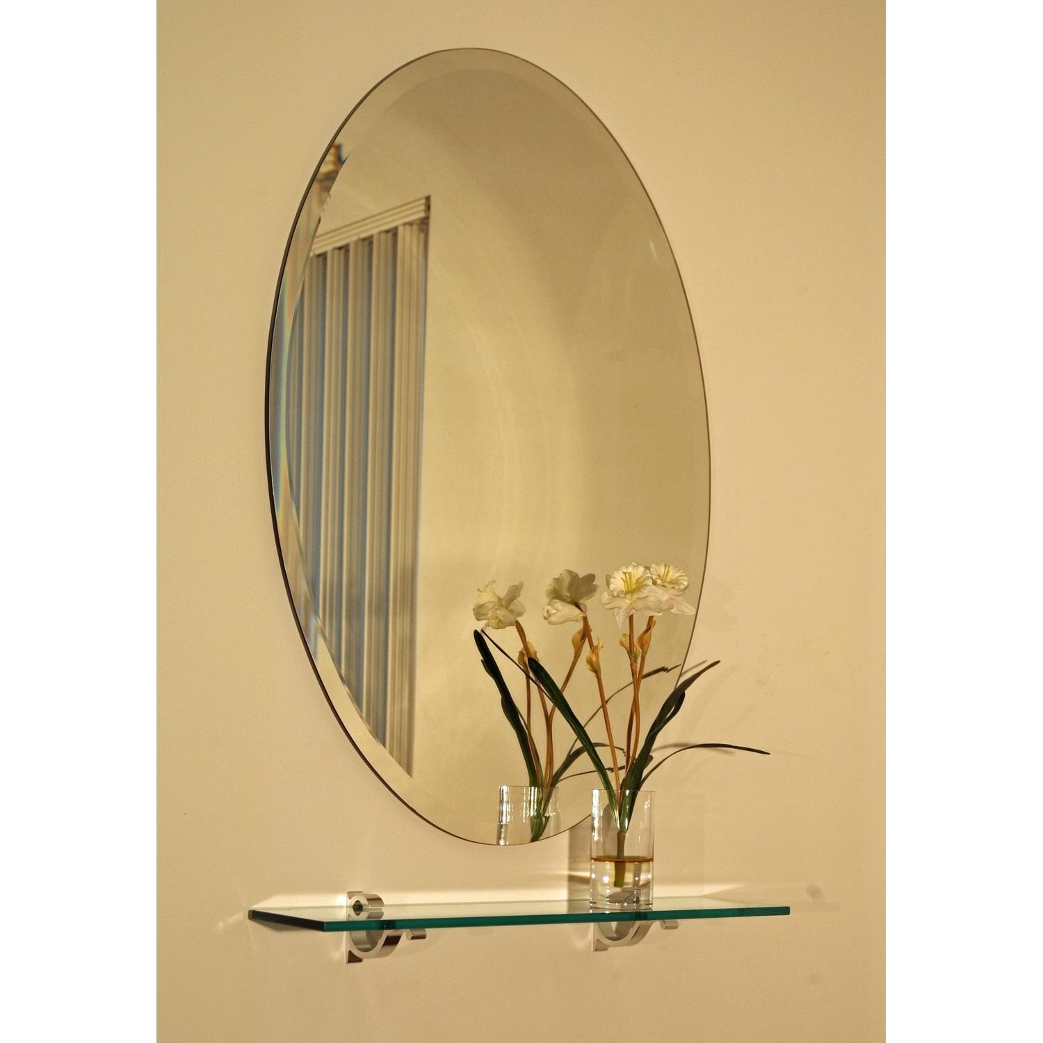 Luxury Frameless Extra Large 28 Oval Wall Mirror