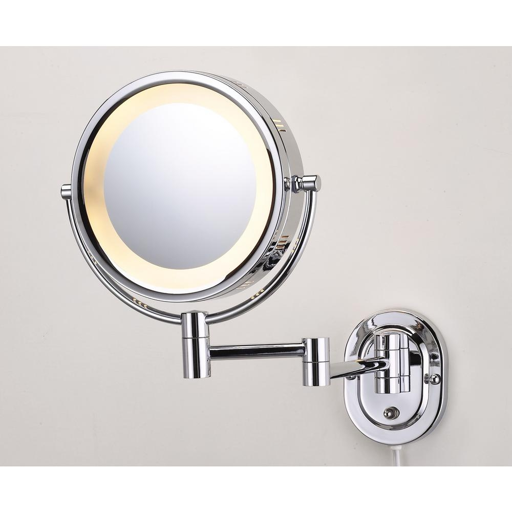 Magnifying Wall Mirror With Light