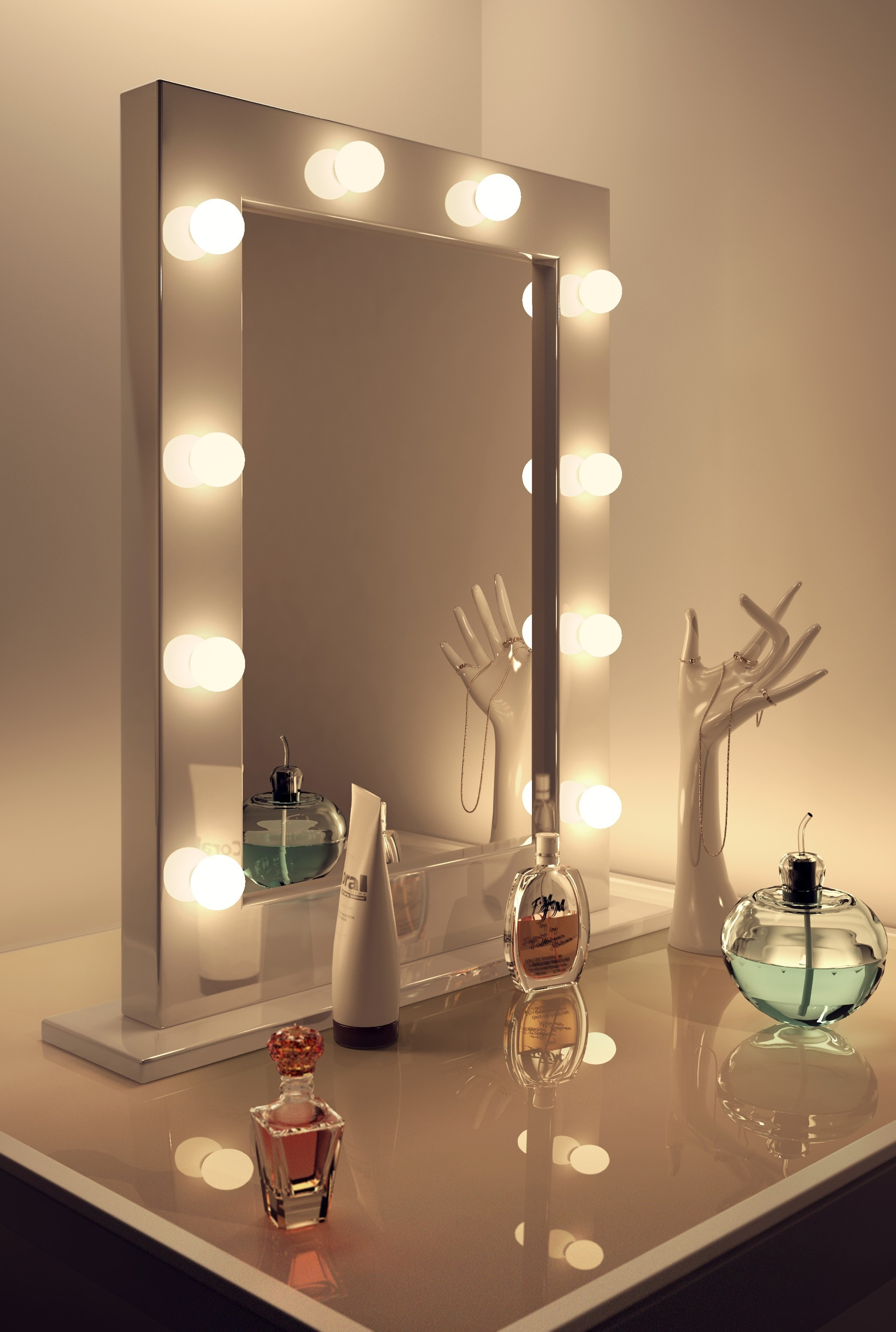 Makeup Wall Mirror With Light