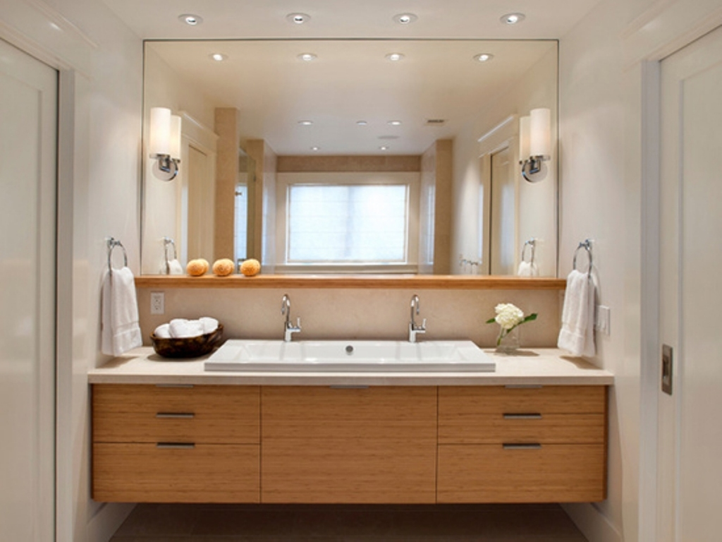 Maple Bathroom Vanity Mirror