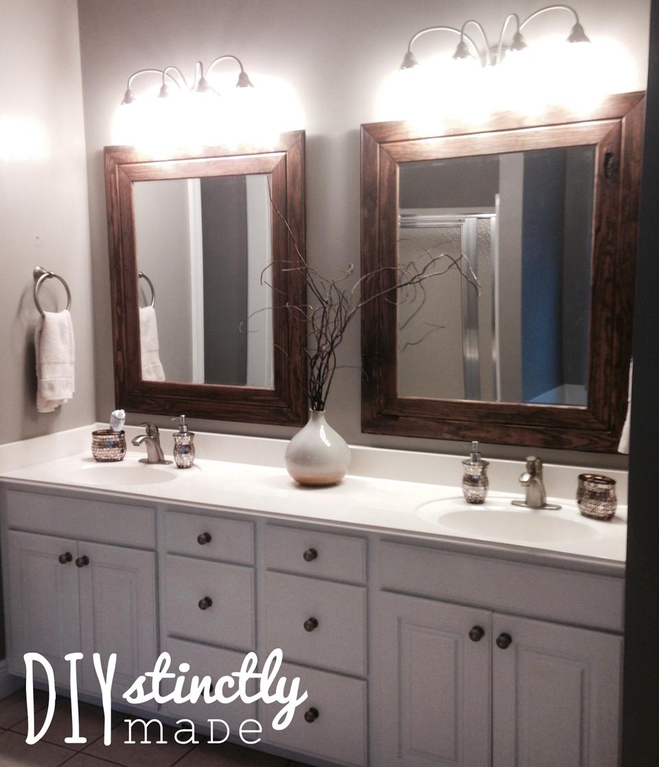 Master Bathroom Mirror Frame
