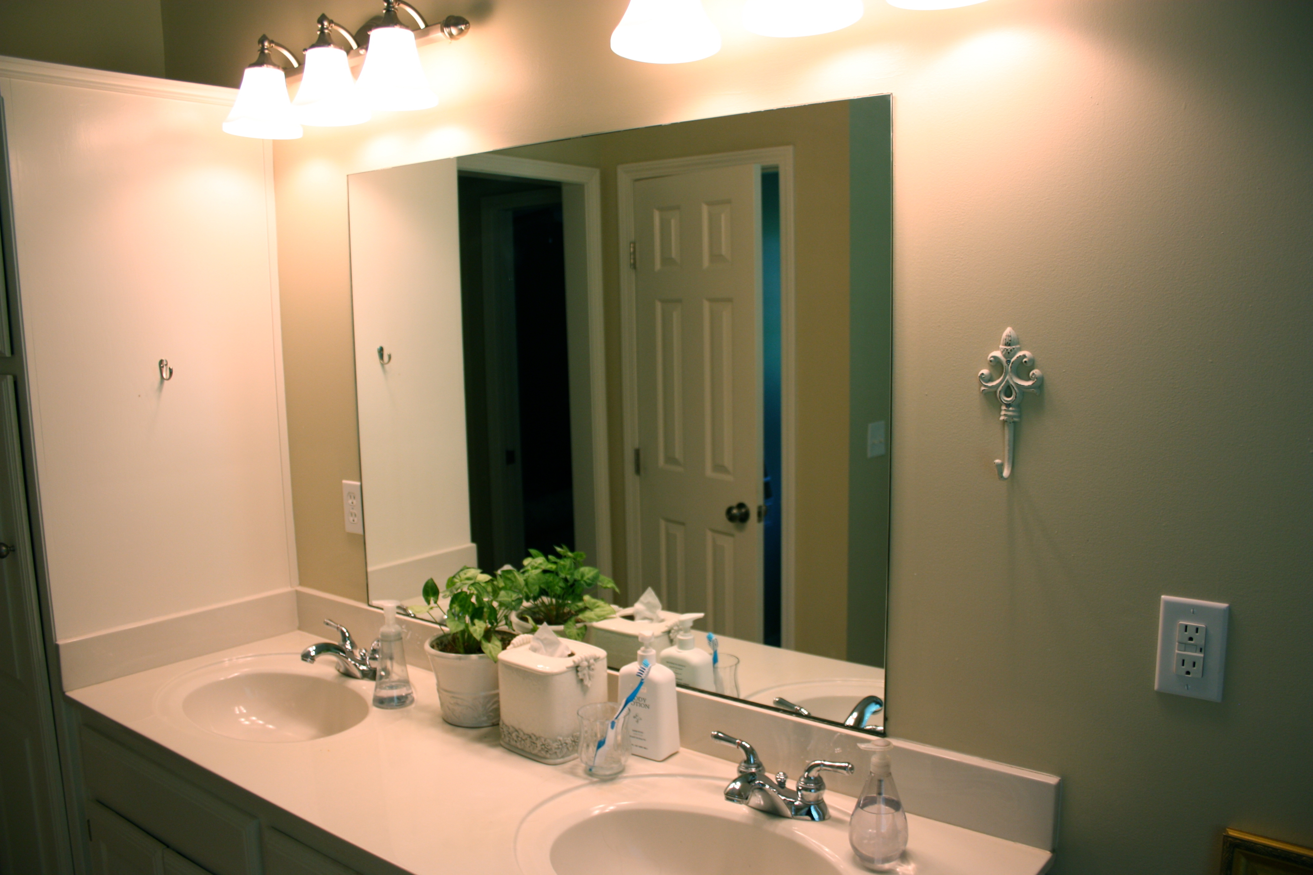 Master Bathroom Mirror Makeoverbathroom mirror makeover and a mirrormate giveaway the family ceo