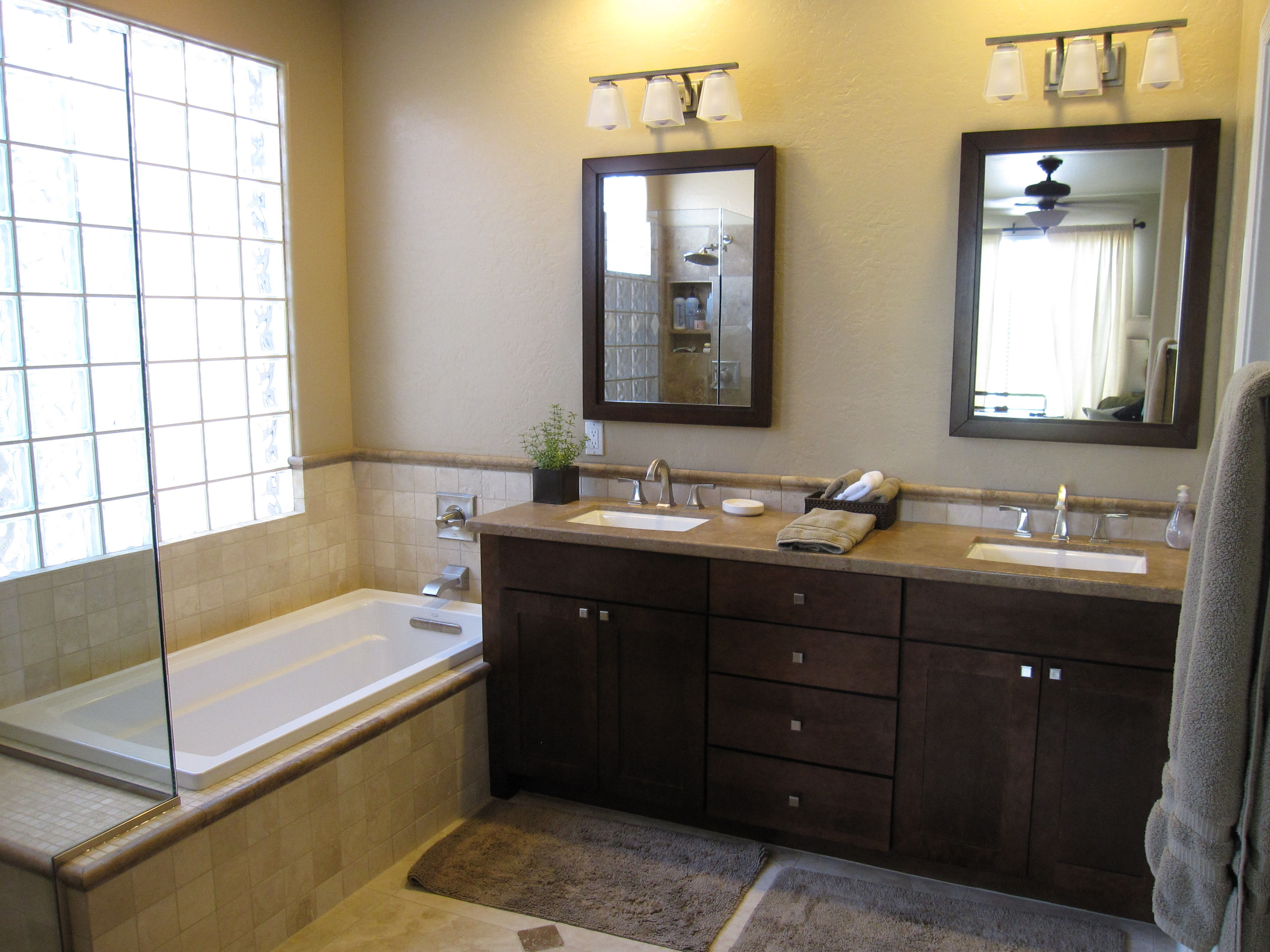 Master Bathroom Mirror Size