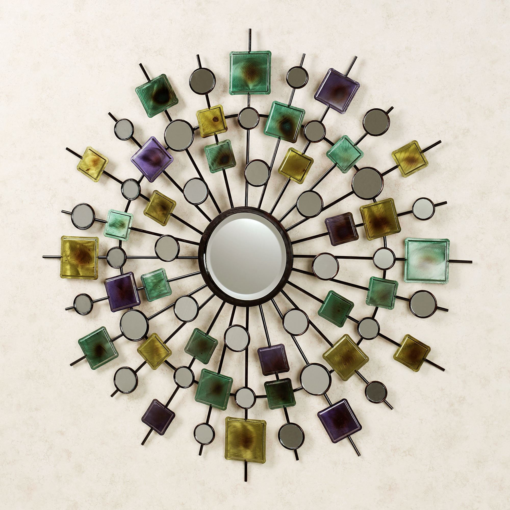 Metallic Flower Mirror Wall Art
