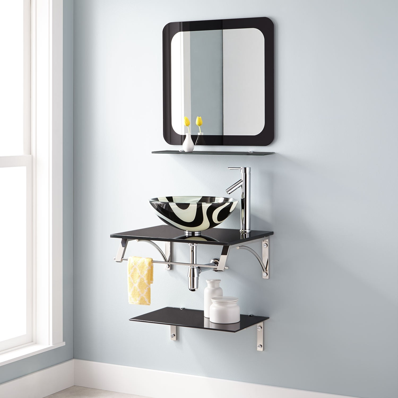 Mirror And Wall Shelf Set