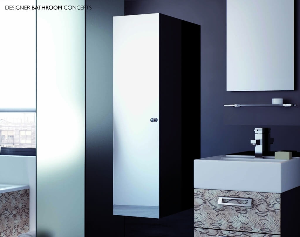 Mirror Bathroom Cabinet 300mm