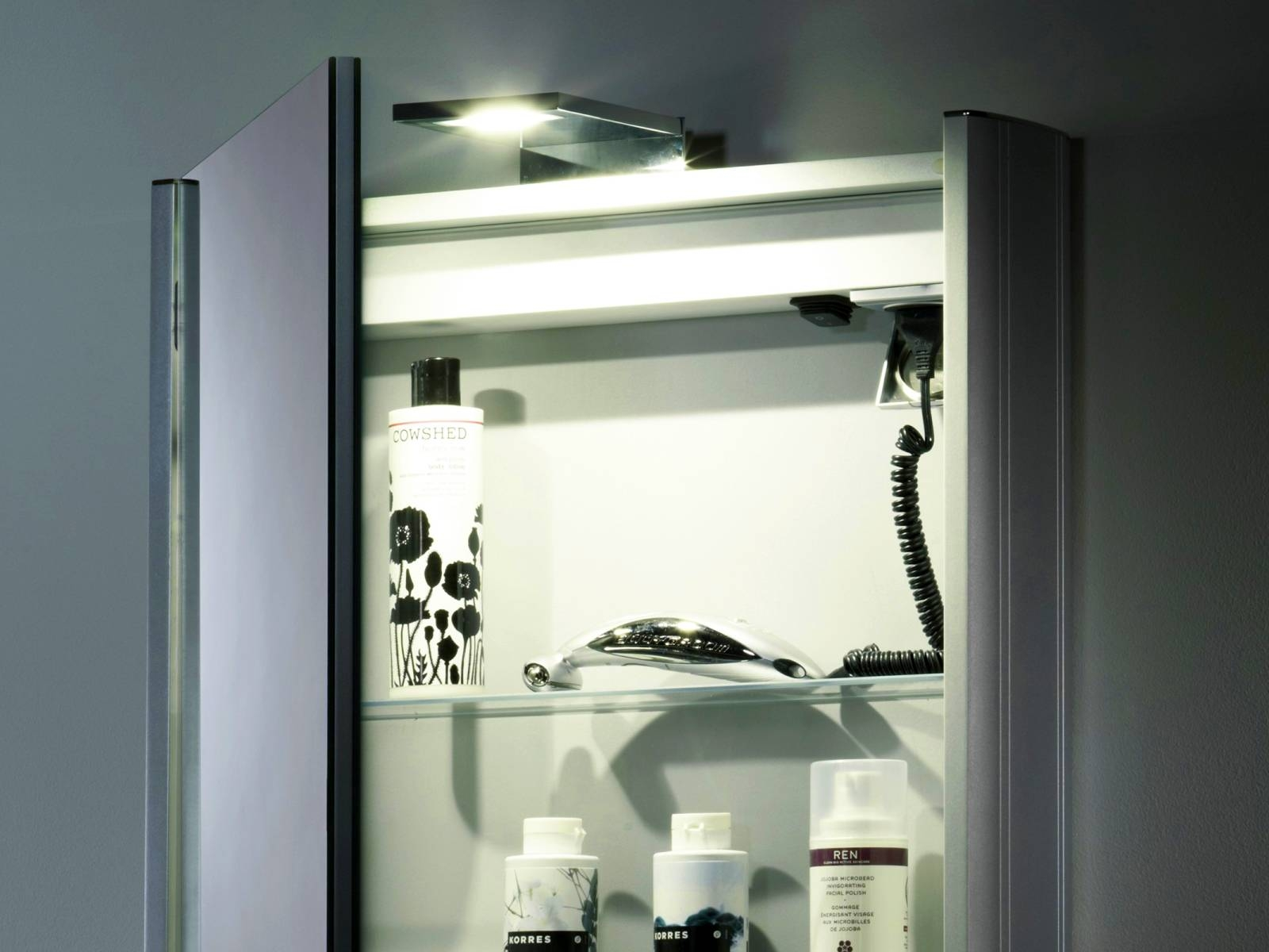 Permalink to Mirror Bathroom Cabinet With Light And Shaver Socket