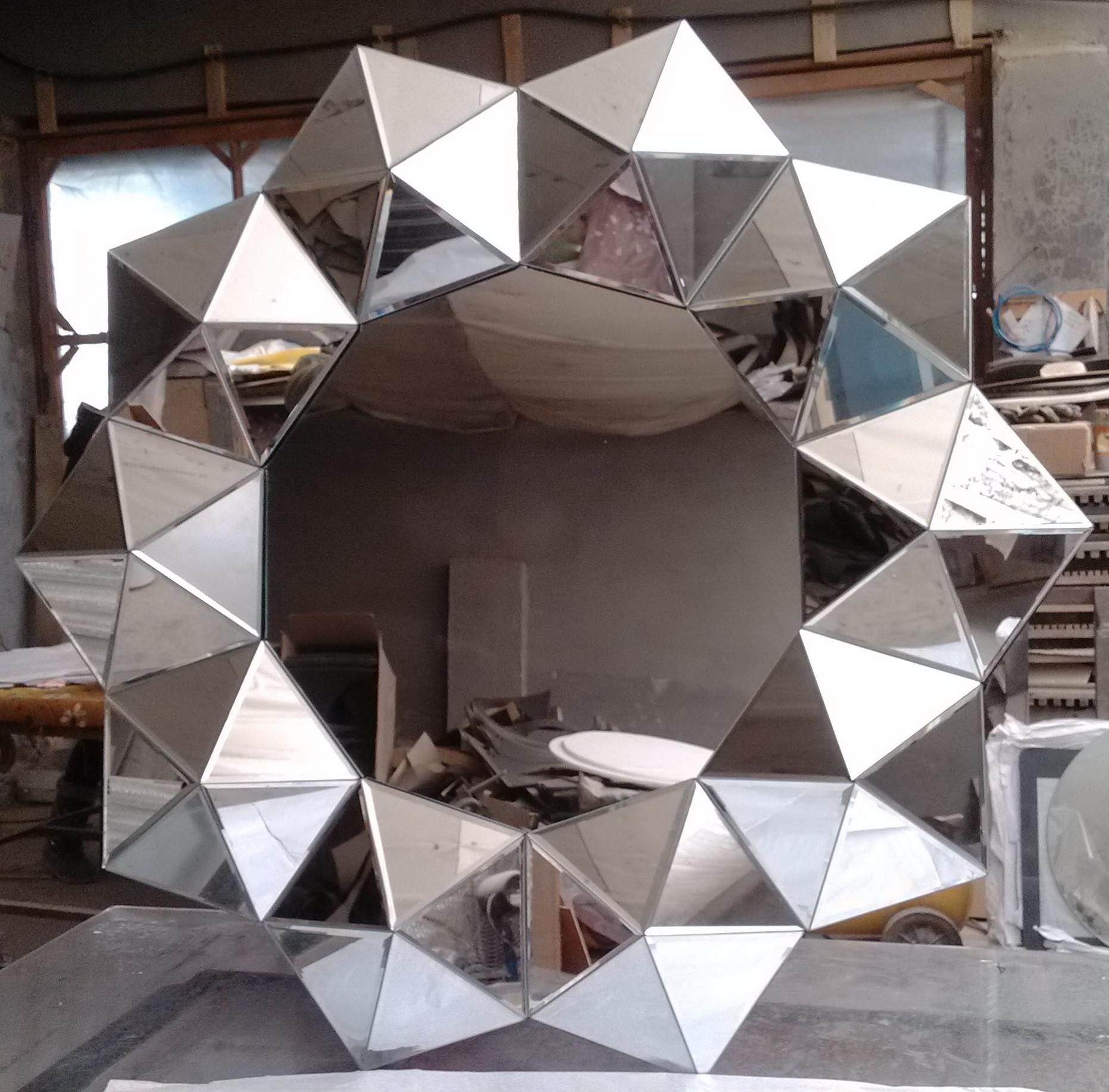 Mirror Framed Glass Wall Art