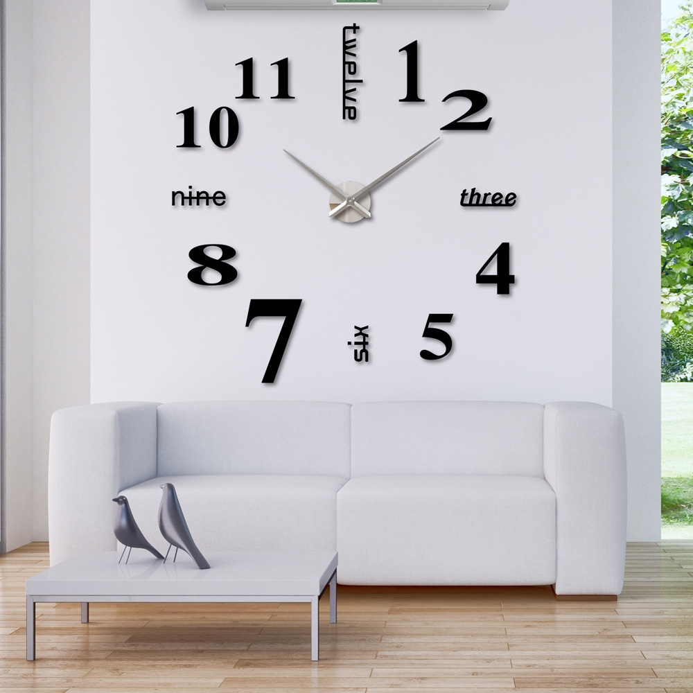 Mirror Glass Wall Clocks