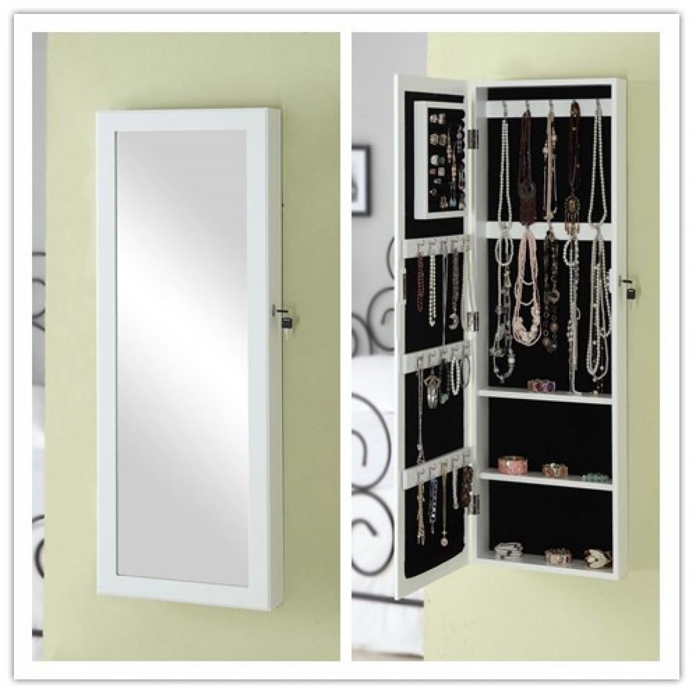 Permalink to Mirror Jewellery Cabinet Wall Mounted