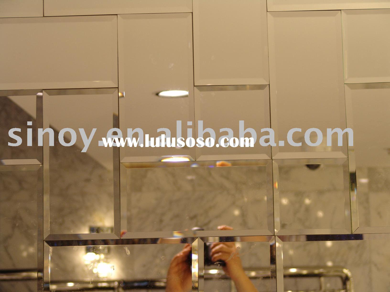 Mirror Tiles On Bathroom Wall