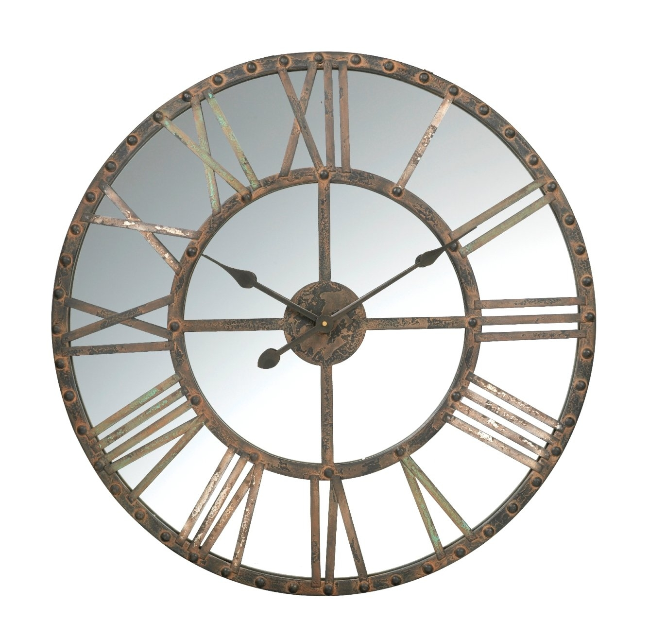 Mirror Wall Clock Set