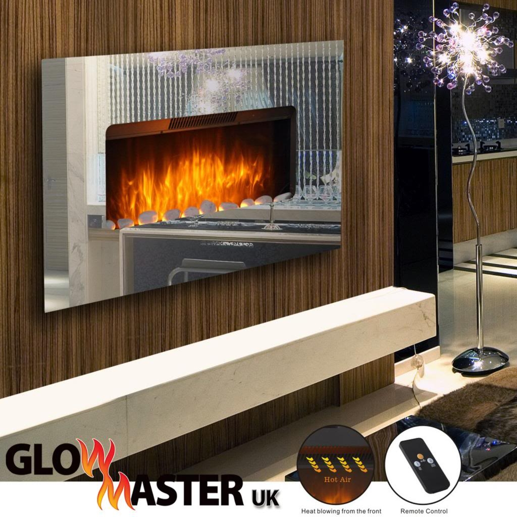 Mirror Wall Mounted Electric Fire