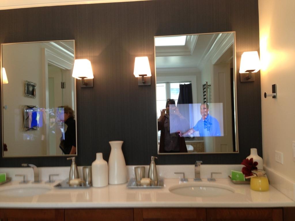 Mirror With Tv Bathroom Cabinet