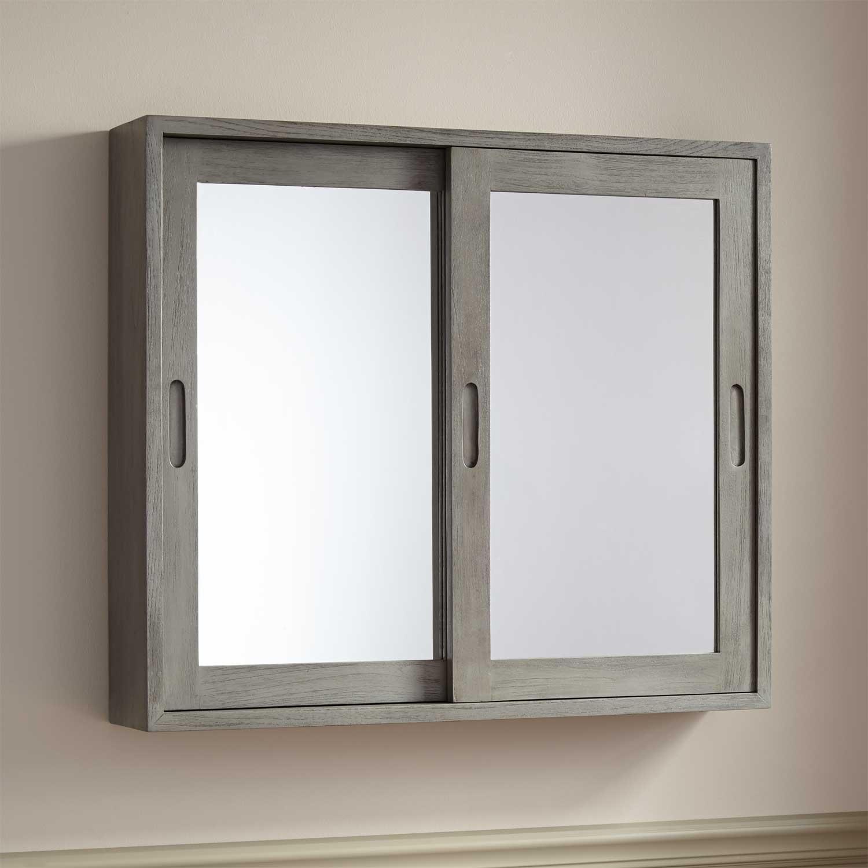 Mirrored 2 Door Bathroom Cabinet