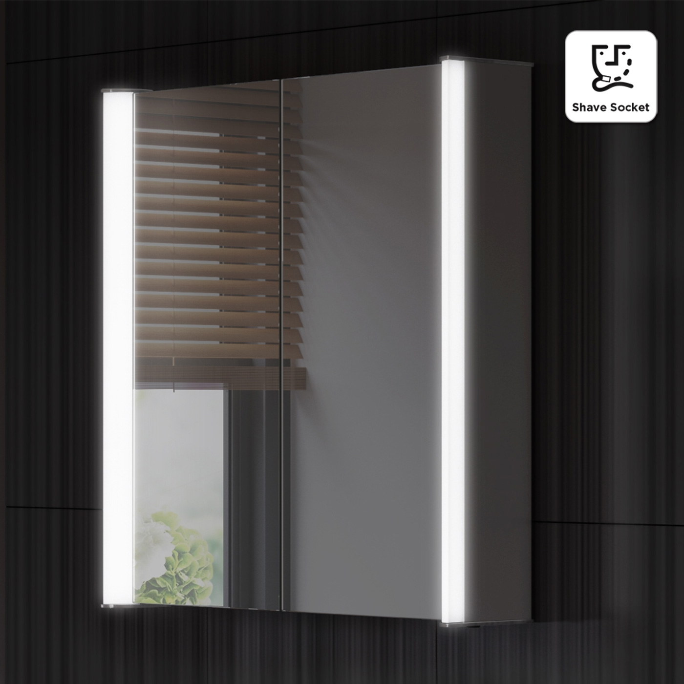 Mirrored Bathroom Cabinet Led
