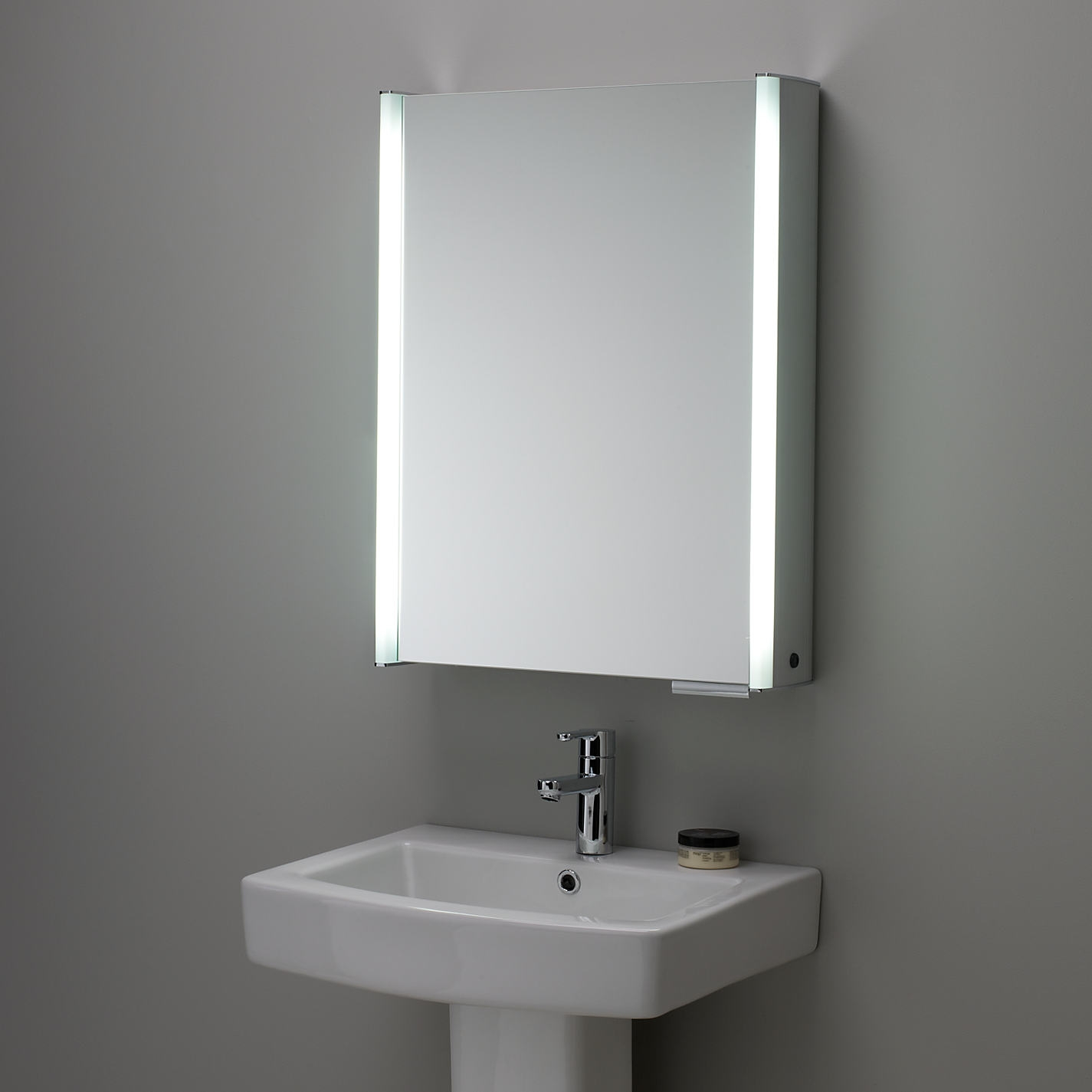 Permalink to Mirrored Bathroom Cabinet With Light And Shaver Socket