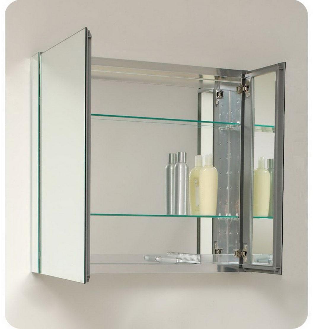 Mirrored Bathroom Storage Units