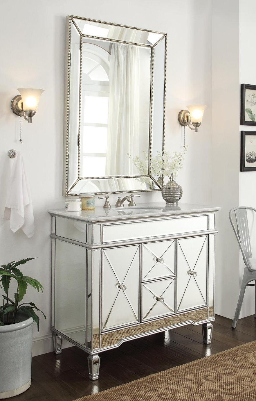 Mirrored Bathroom Vanities Cabinets