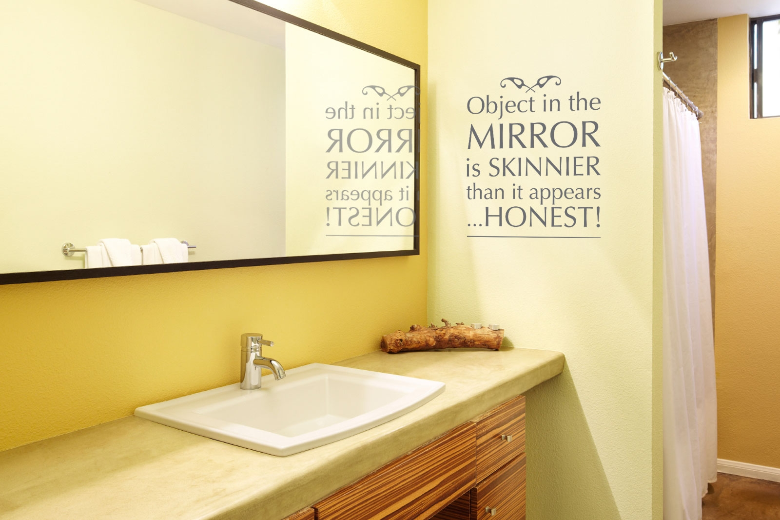 Mirrored Bathroom Wall Stickers