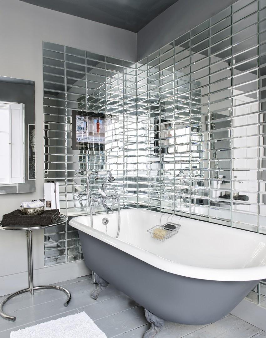 Mirrored Bathroom Wall Tiles