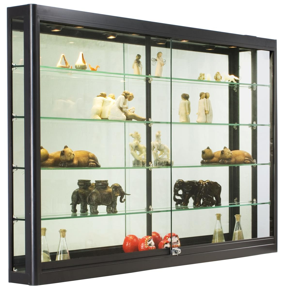Mirrored Curio Wall Cabinet