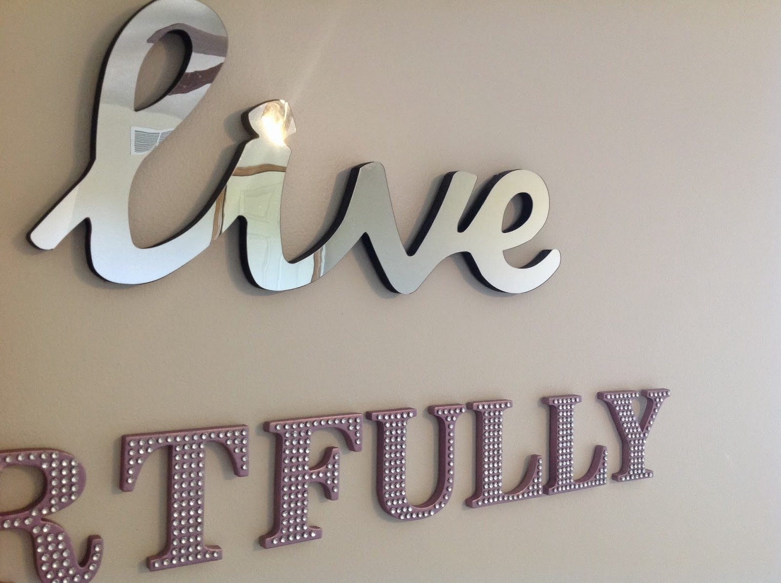 Permalink to Mirrored Letters Wall Decor