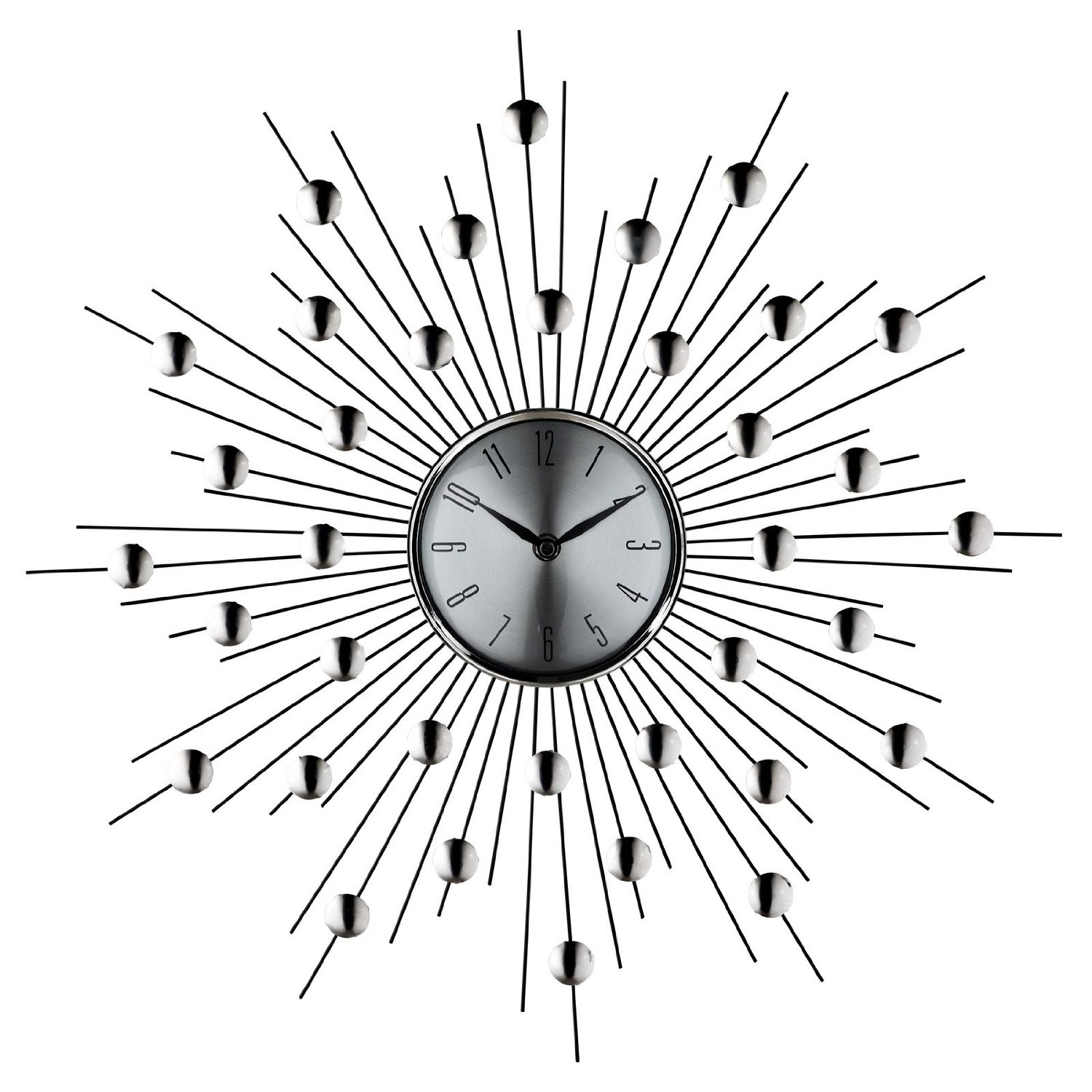Mirrored Starburst Wall Clock