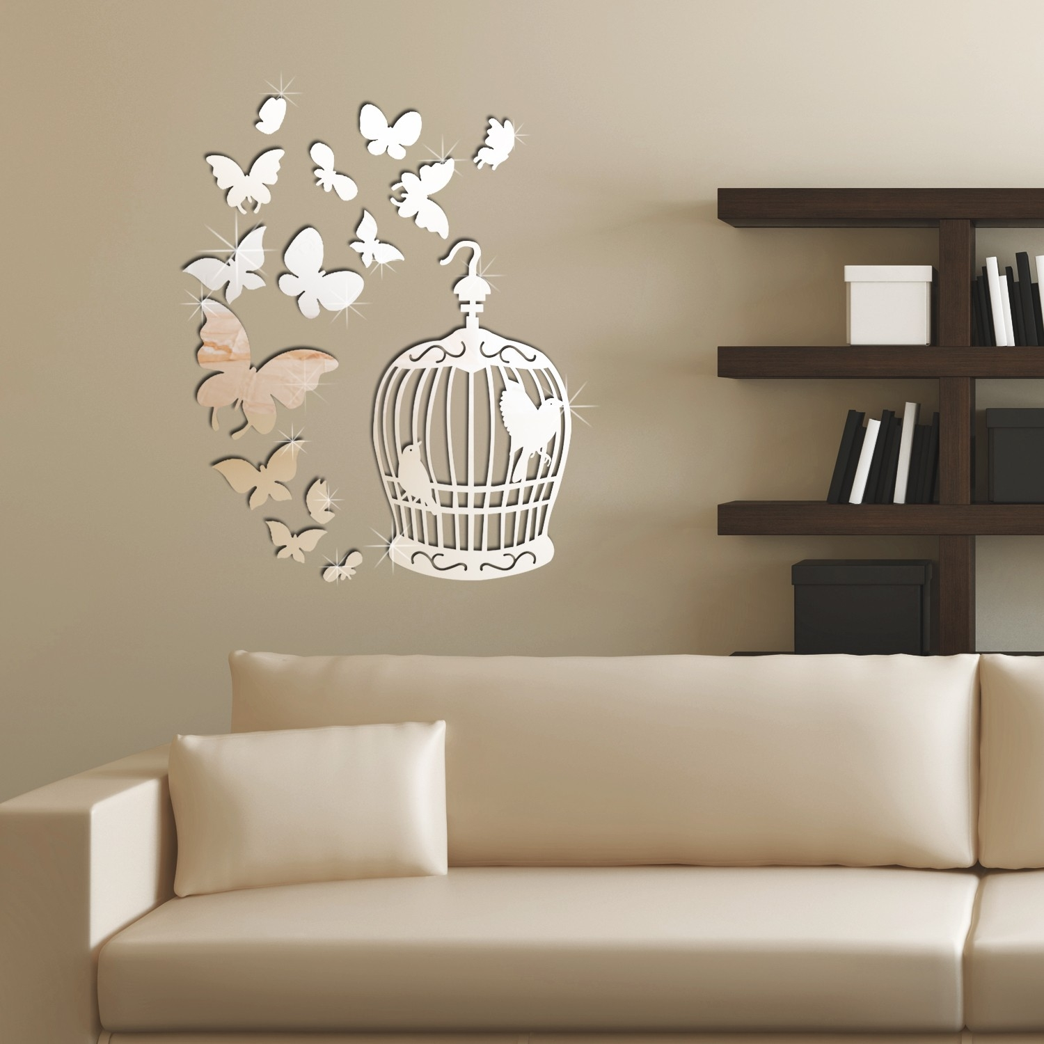 Mirrored Wall Art Decals