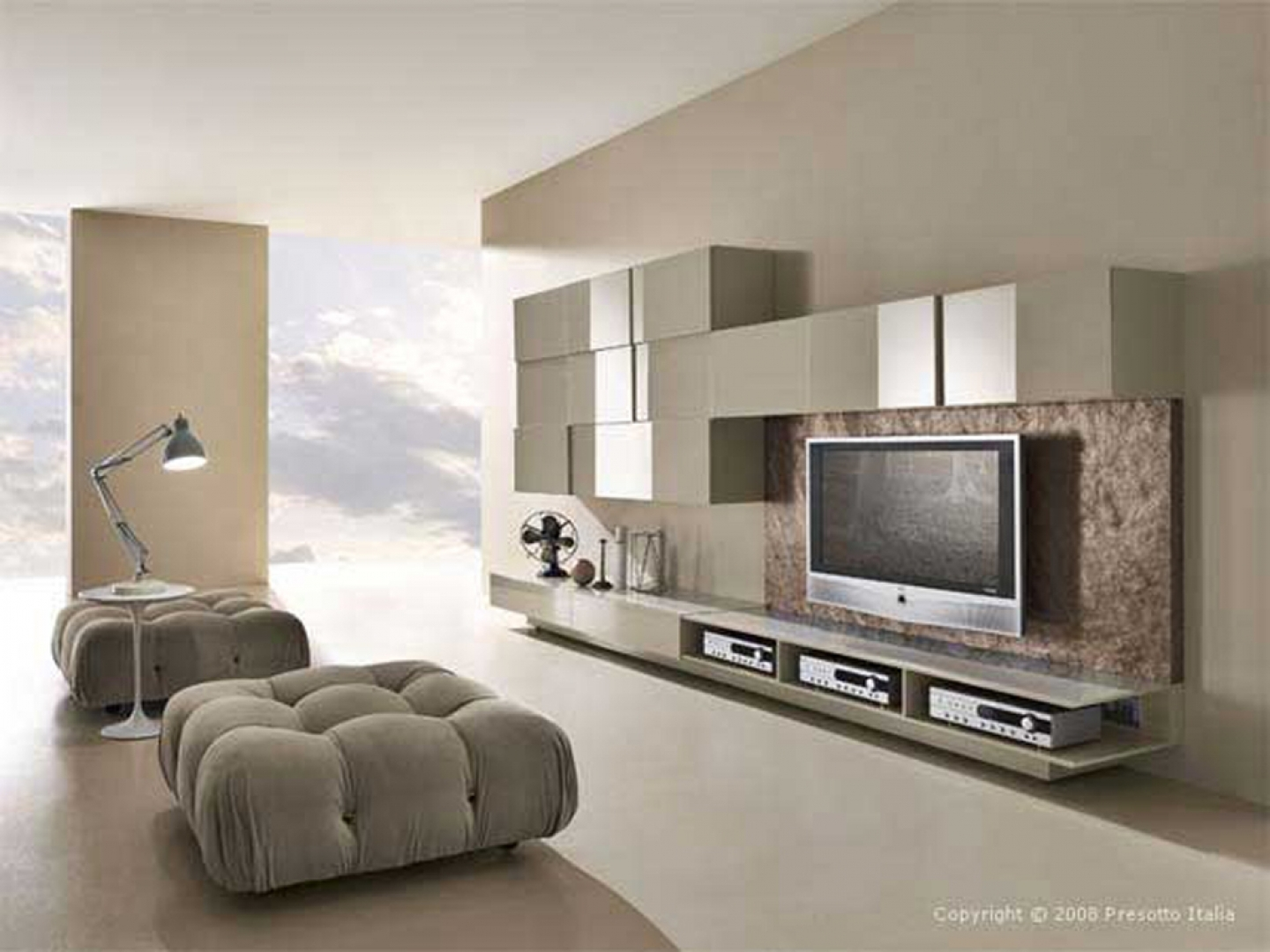 Mirrored Wall Mount Tv Cabinet