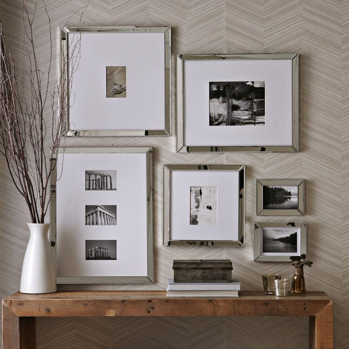Mirrored Wall Photo Frames