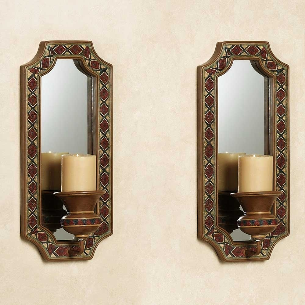 Mirrored Wall Sconces For Candles