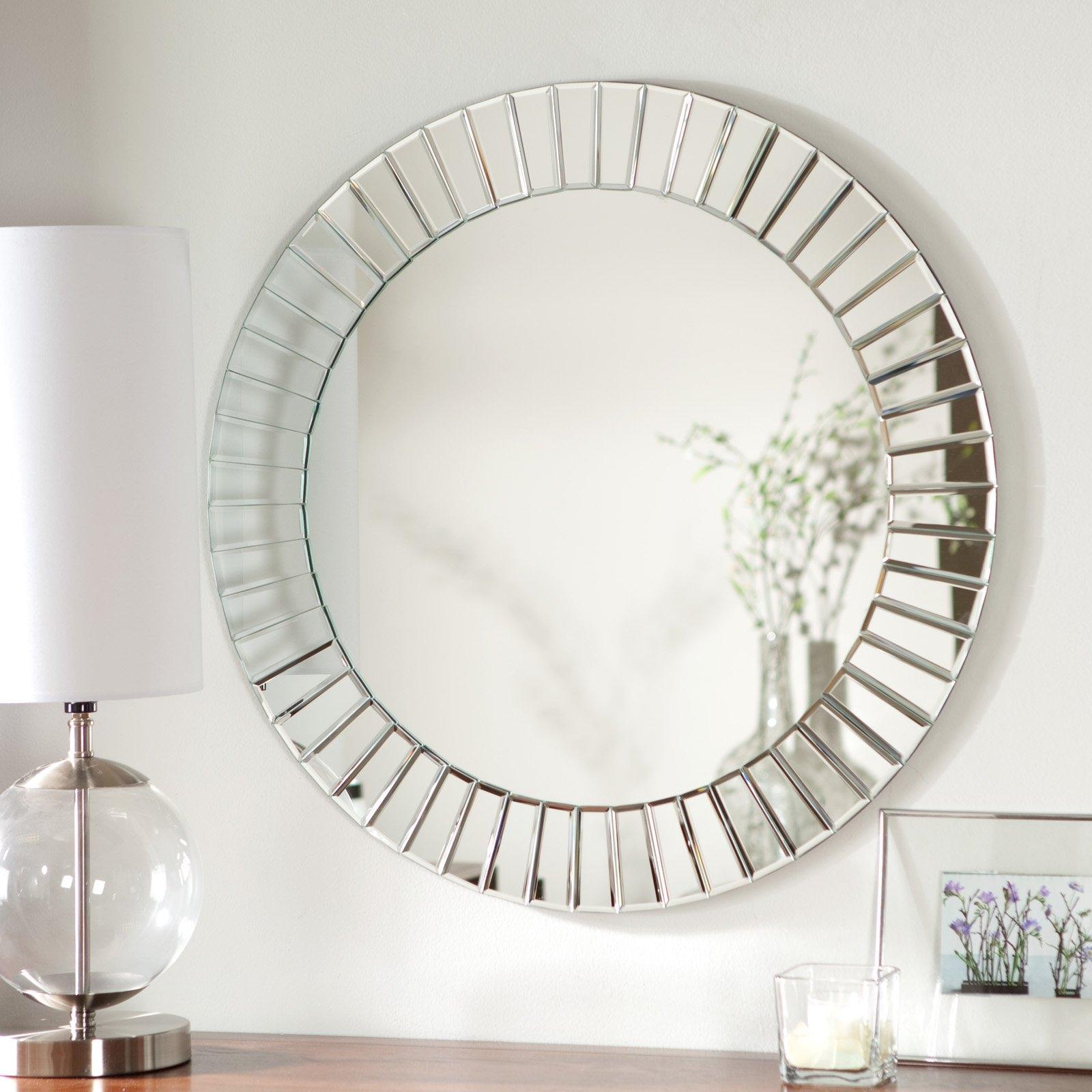 Modern Frameless Beveled Wall Mirror