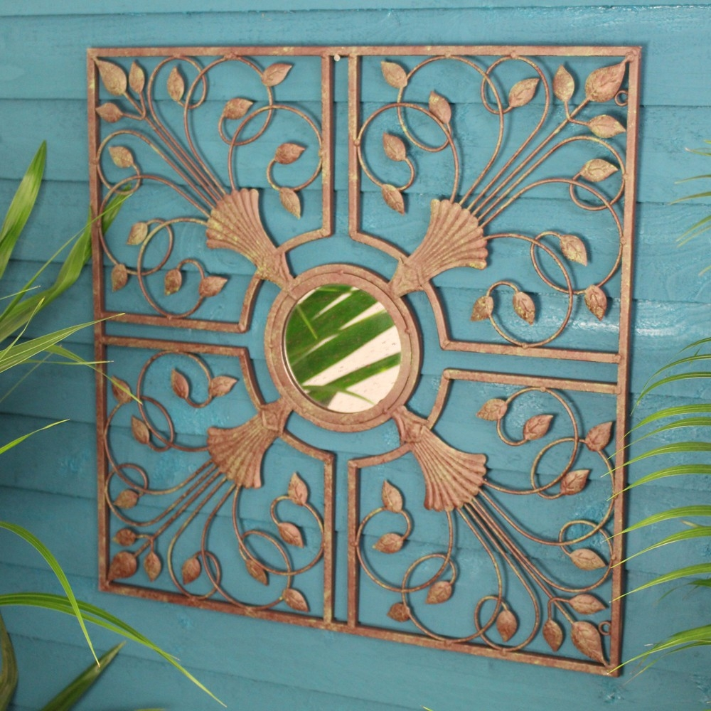 Moorish Antique Metal Mirror Wall Art
