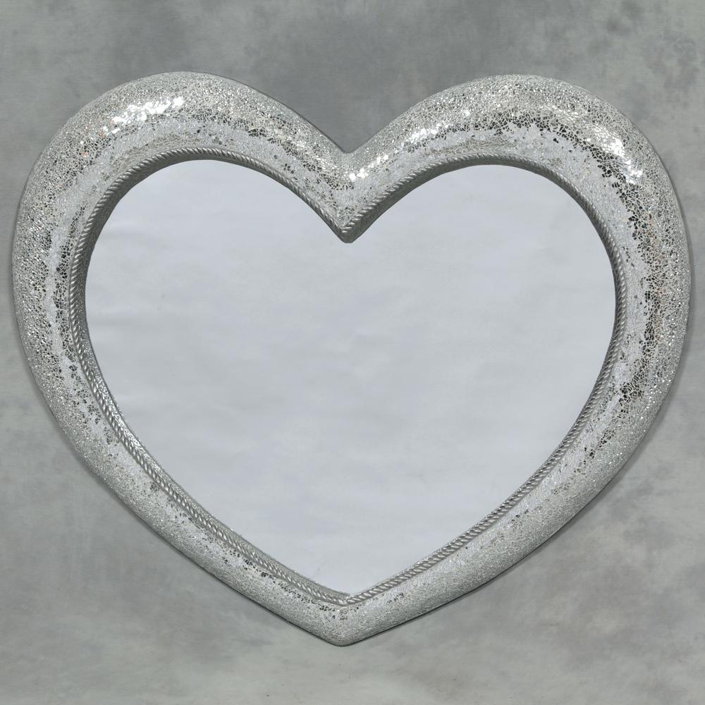 Mosaic Heart Shaped Wall Mirror