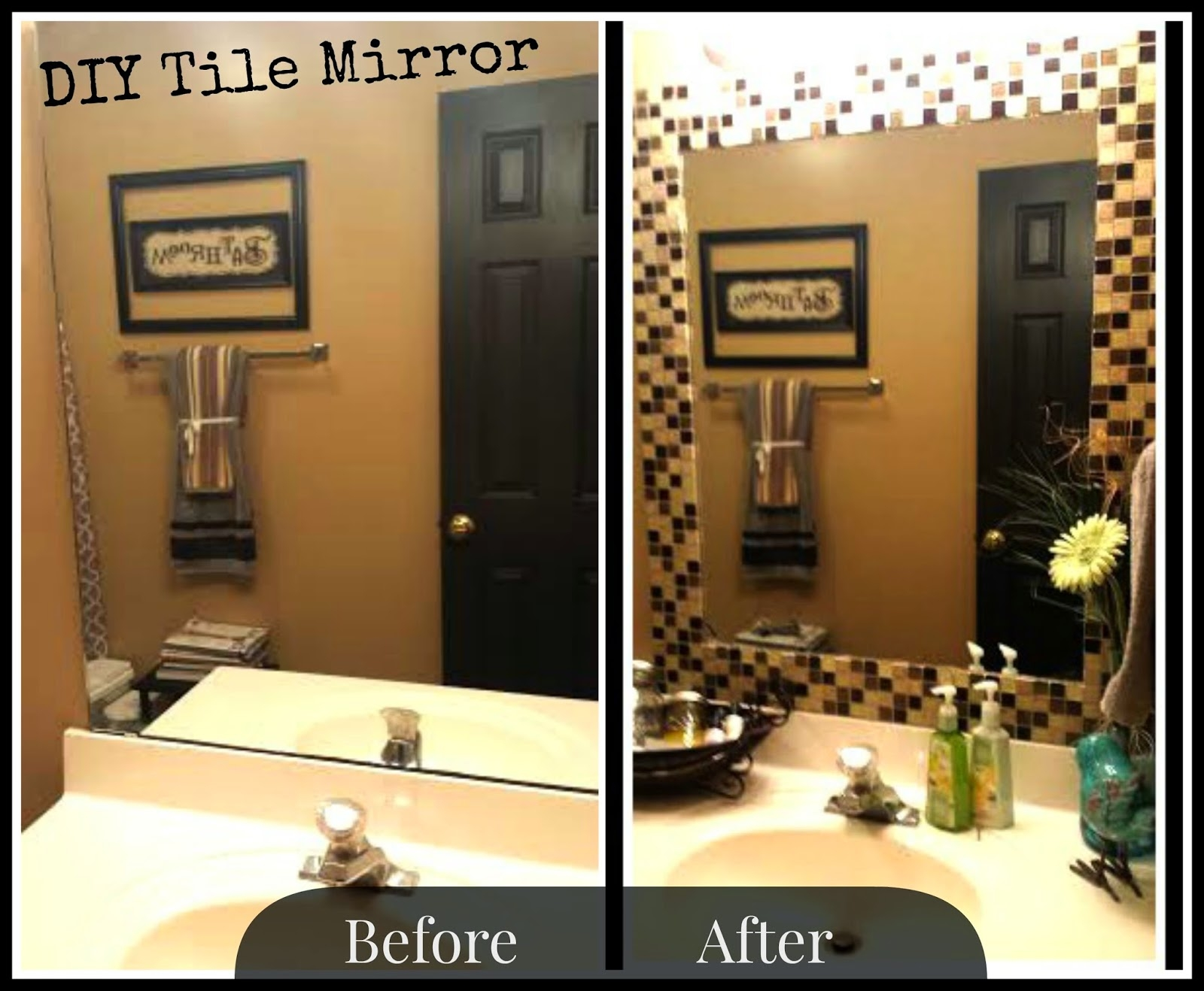 Mosaic Tile Around Bathroom Mirrorproject sapphire diy tile mirror holy moly i may be doing this