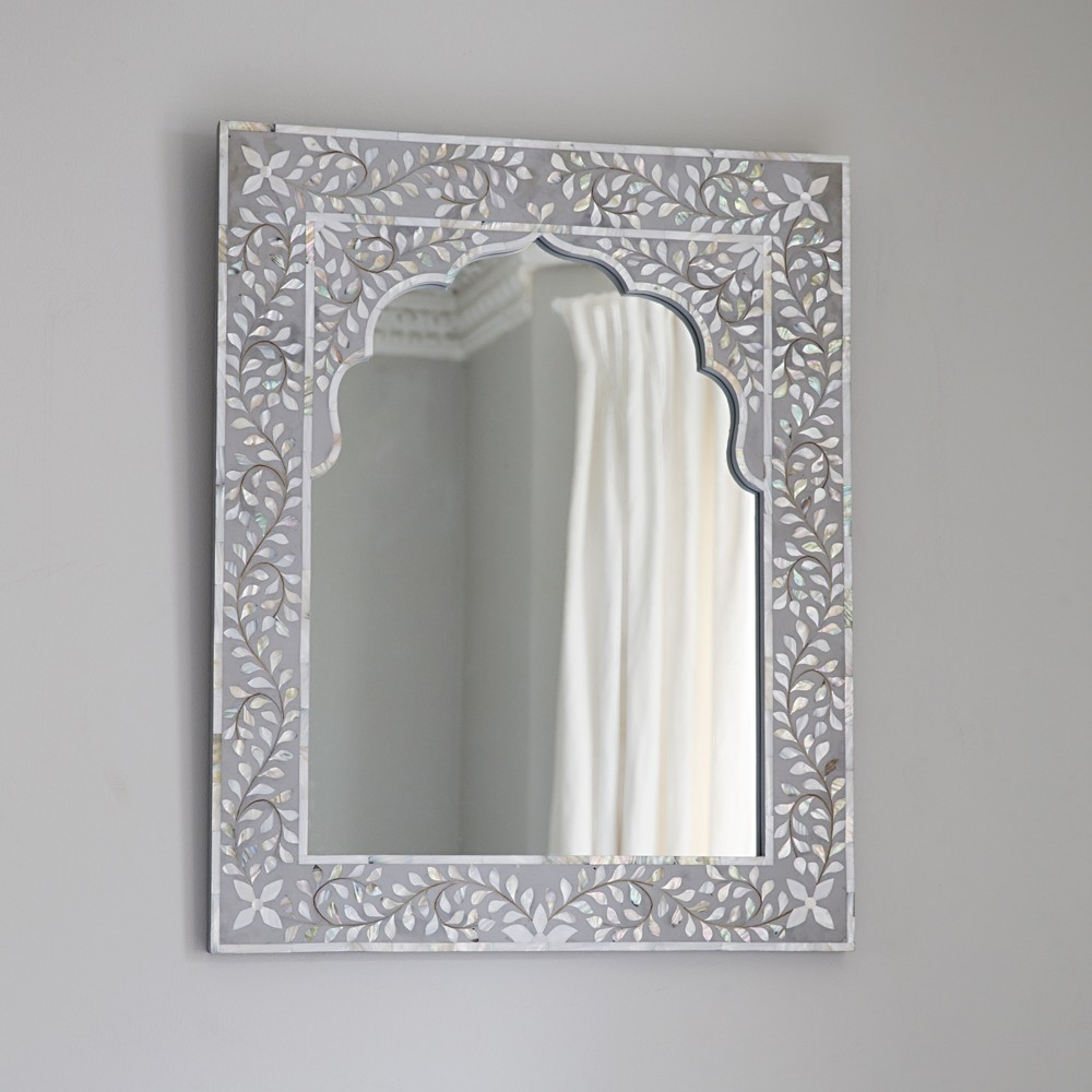 Mother Of Pearl Framed Wall Mirror