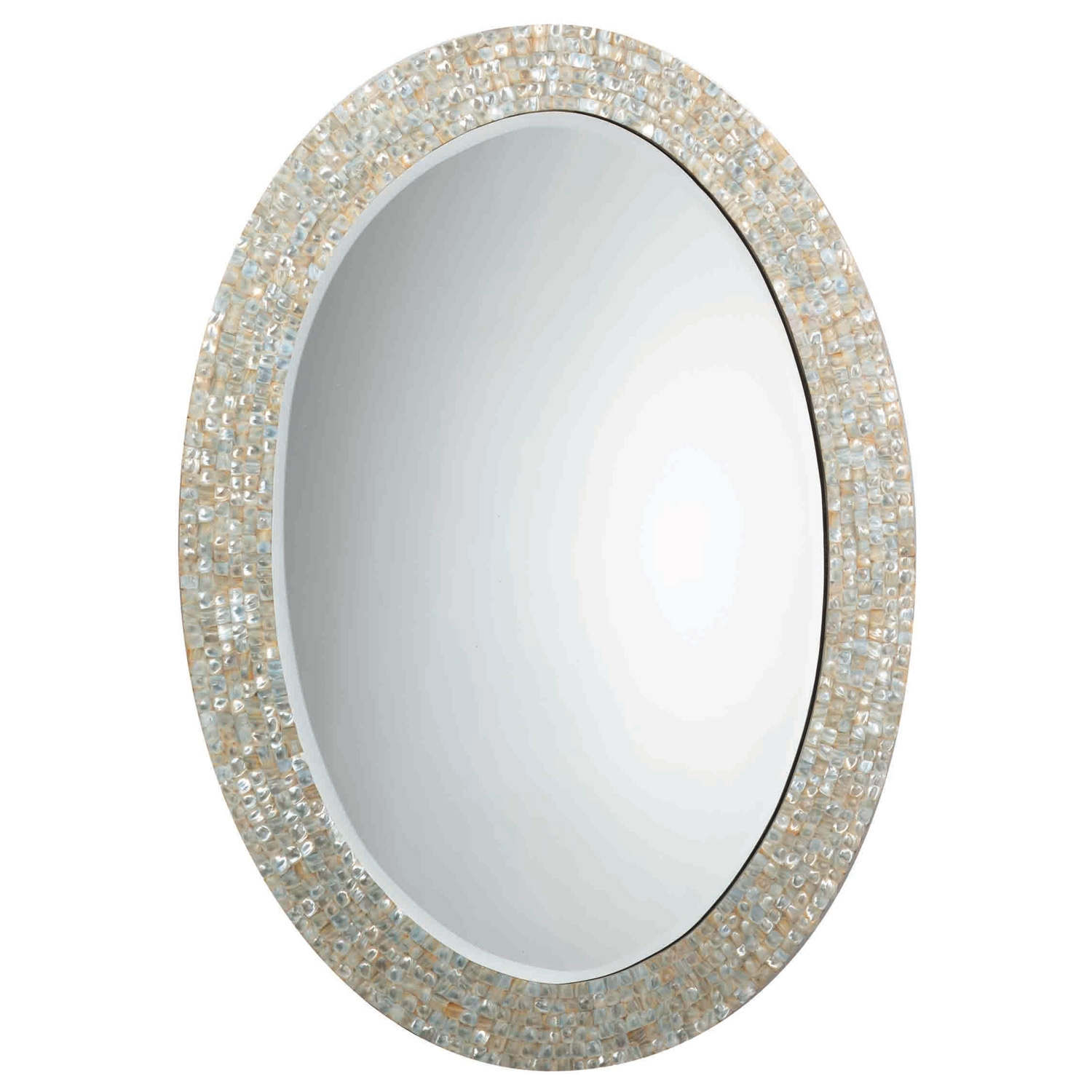 Mother Of Pearl Round Wall Mirror