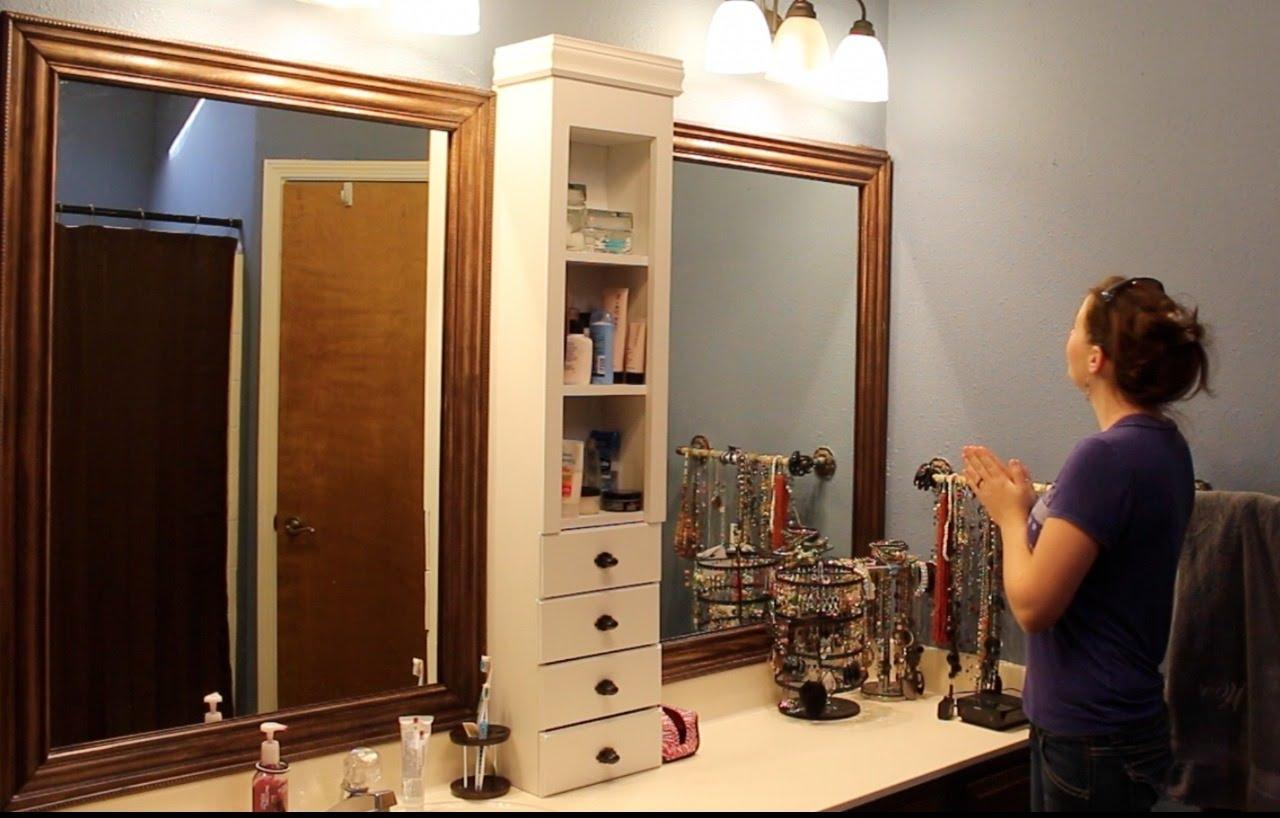 Old Bathroom Mirror Makeover
