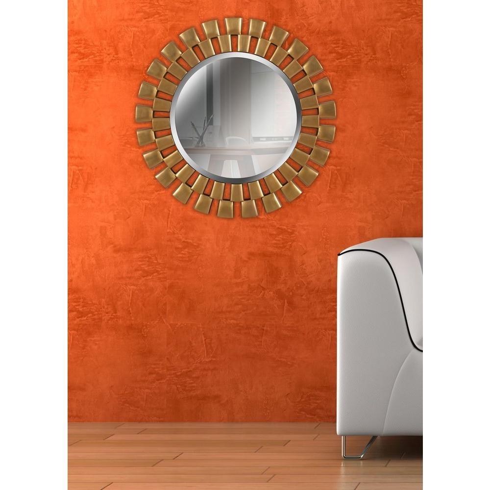 Orange Framed Wall Mirror