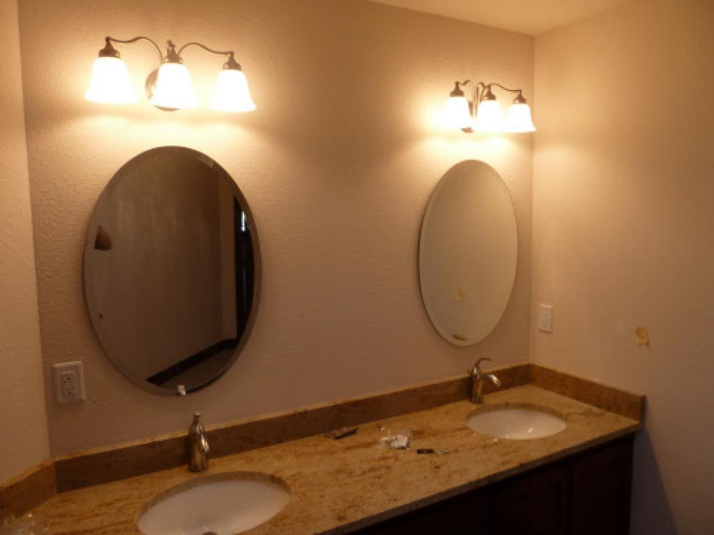 Oval Bronze Bathroom Mirror