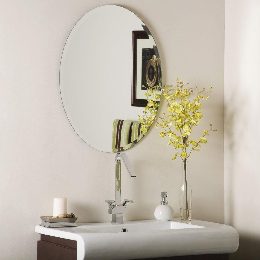 Oval Mirror Bathroom Design1024 X 1024