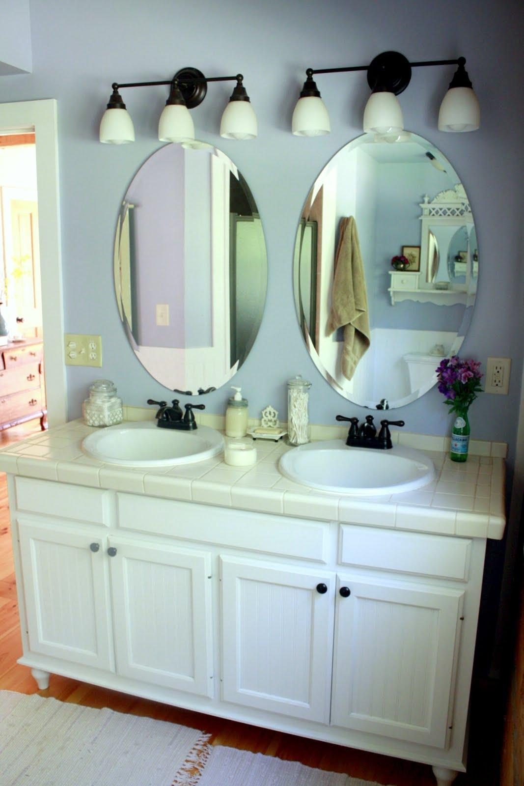 Oval Mirrors Bathroom Vanities
