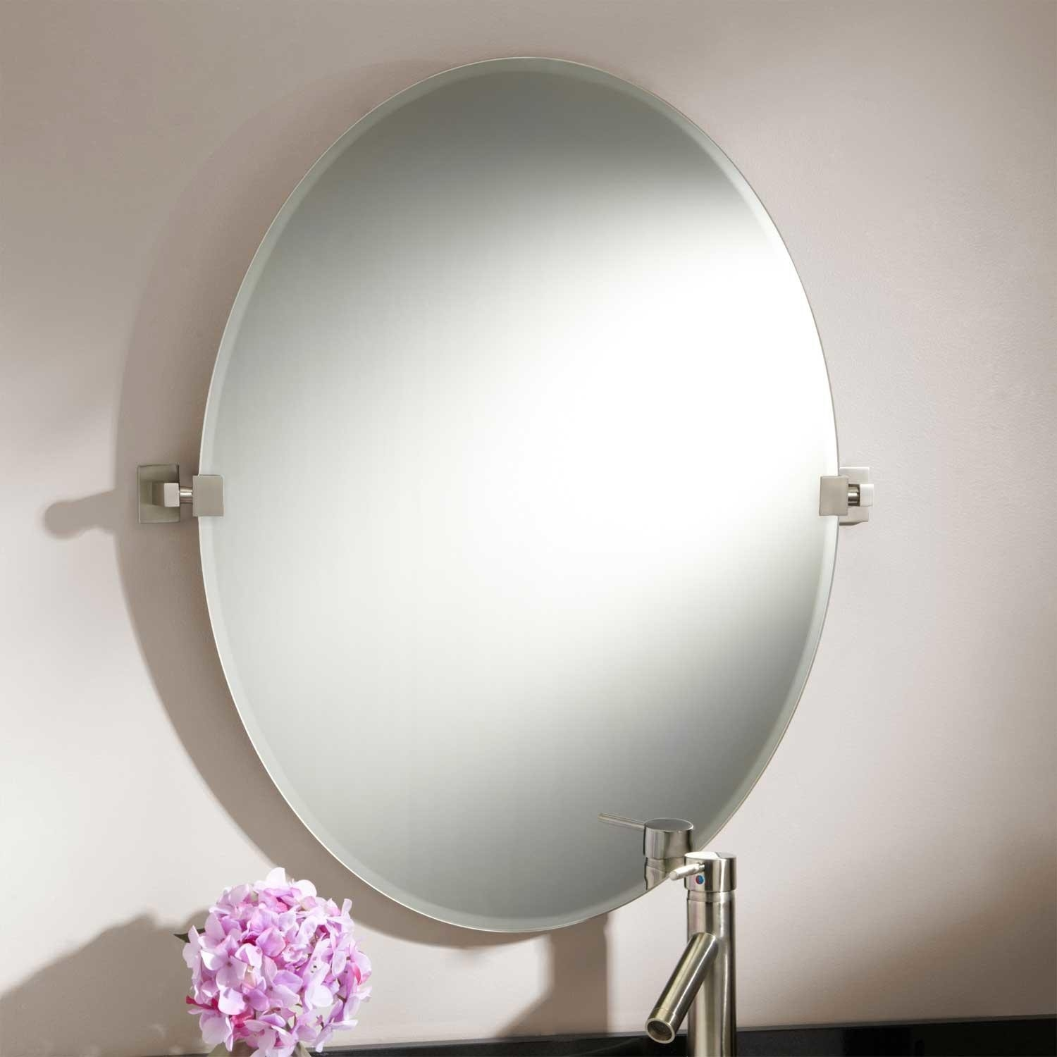 Permalink to Oval Pivot Mirrors For Bathroom