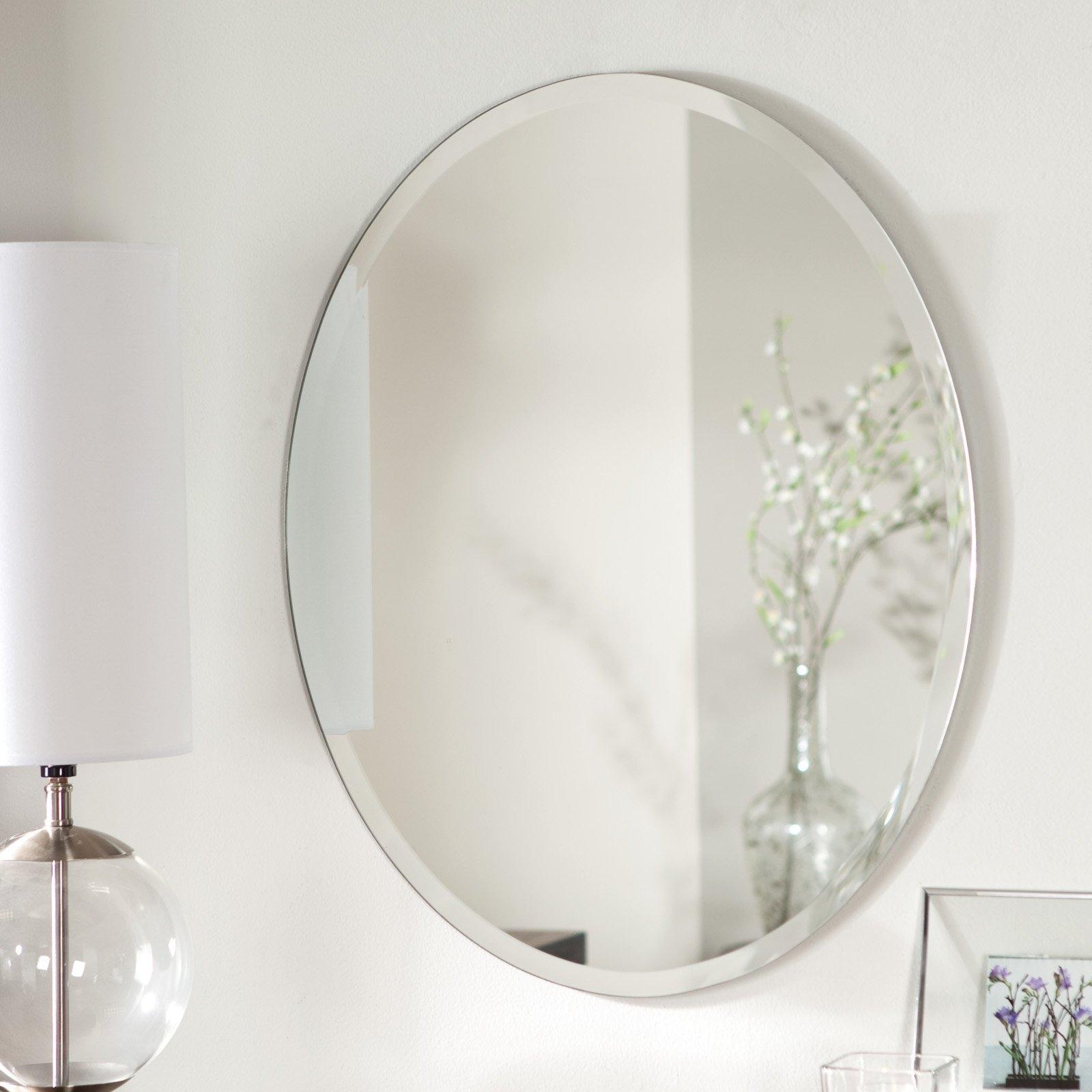 Oval Wall Mirror Frameless