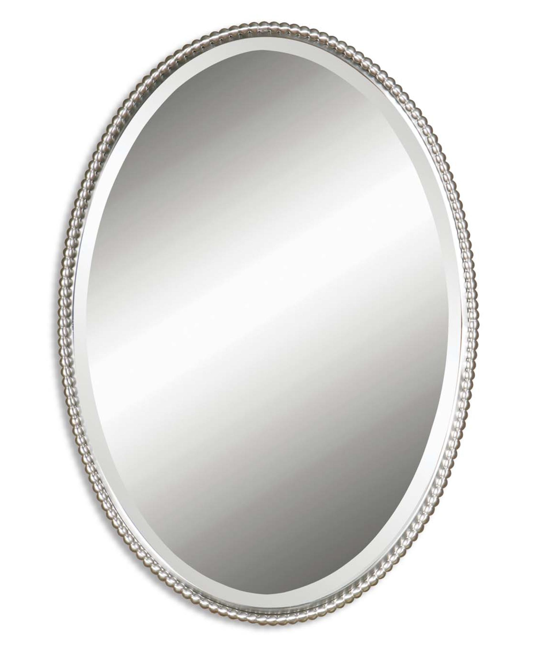 Oval Wall Mirror Silver