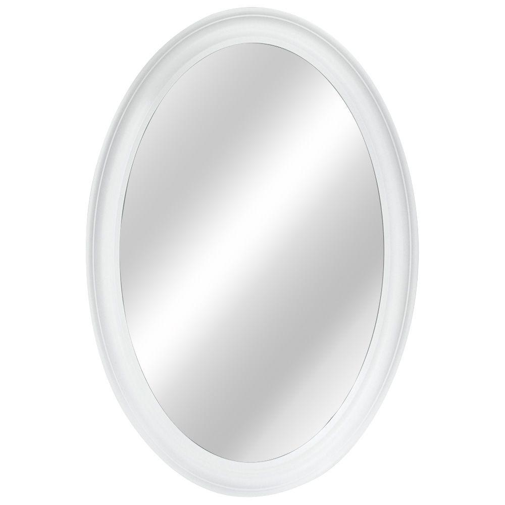 Oval Wall Mirror White